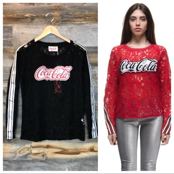 4db971ab9e ⬇️$70 Pinko & Coca-Cola Collab | Lace T-Shirt | S NWT